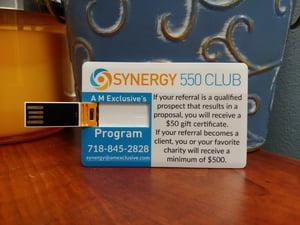Synergy 550 Club Membership Card