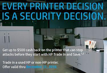 Printer Upgrade Security